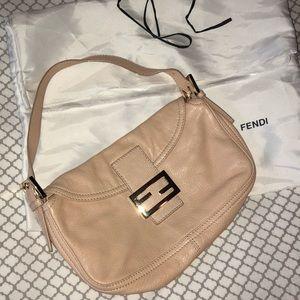 acfc4f6a8a Fendi leather over the shoulder handbag- pink nude